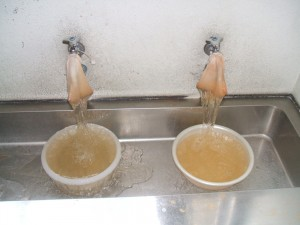 廊下にある手洗い場