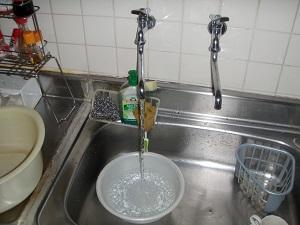 台所(給湯管) 洗浄後