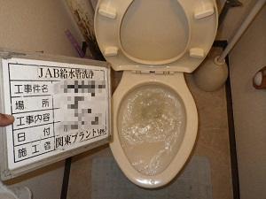 専有部 トイレ洗浄後