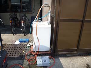 洗濯機用蛇口に打込み口設置 《2系統》
