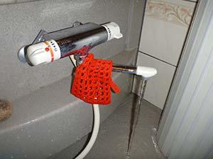 浴室(給水管)洗浄後