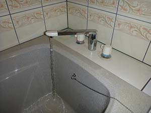 浴室(給湯管)洗浄後