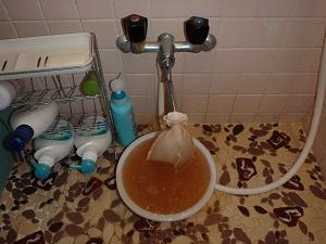 ▼ 浴室洗い場 洗浄中