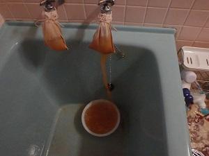 ▼ 浴槽 洗浄中