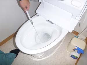 トイレ(給水管) : 洗浄後