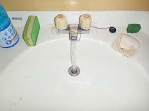 洗面所(給水管) 洗浄後