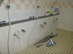 浴室 シャワー付混合栓(給湯管) 洗浄中