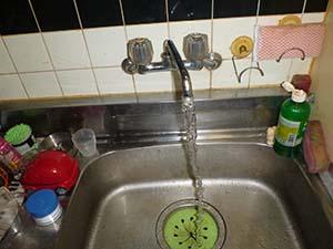 台所(給水管) 洗浄後