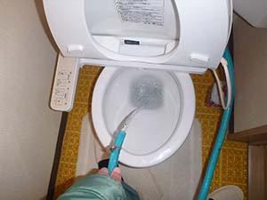 トイレ(給水管)洗浄後