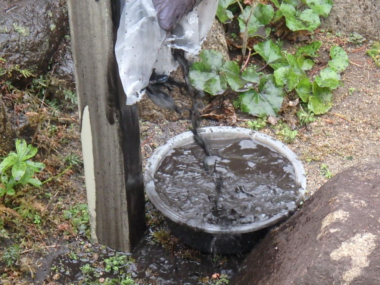 庭園の池用立水栓 お客様が見られてビックリされていました
