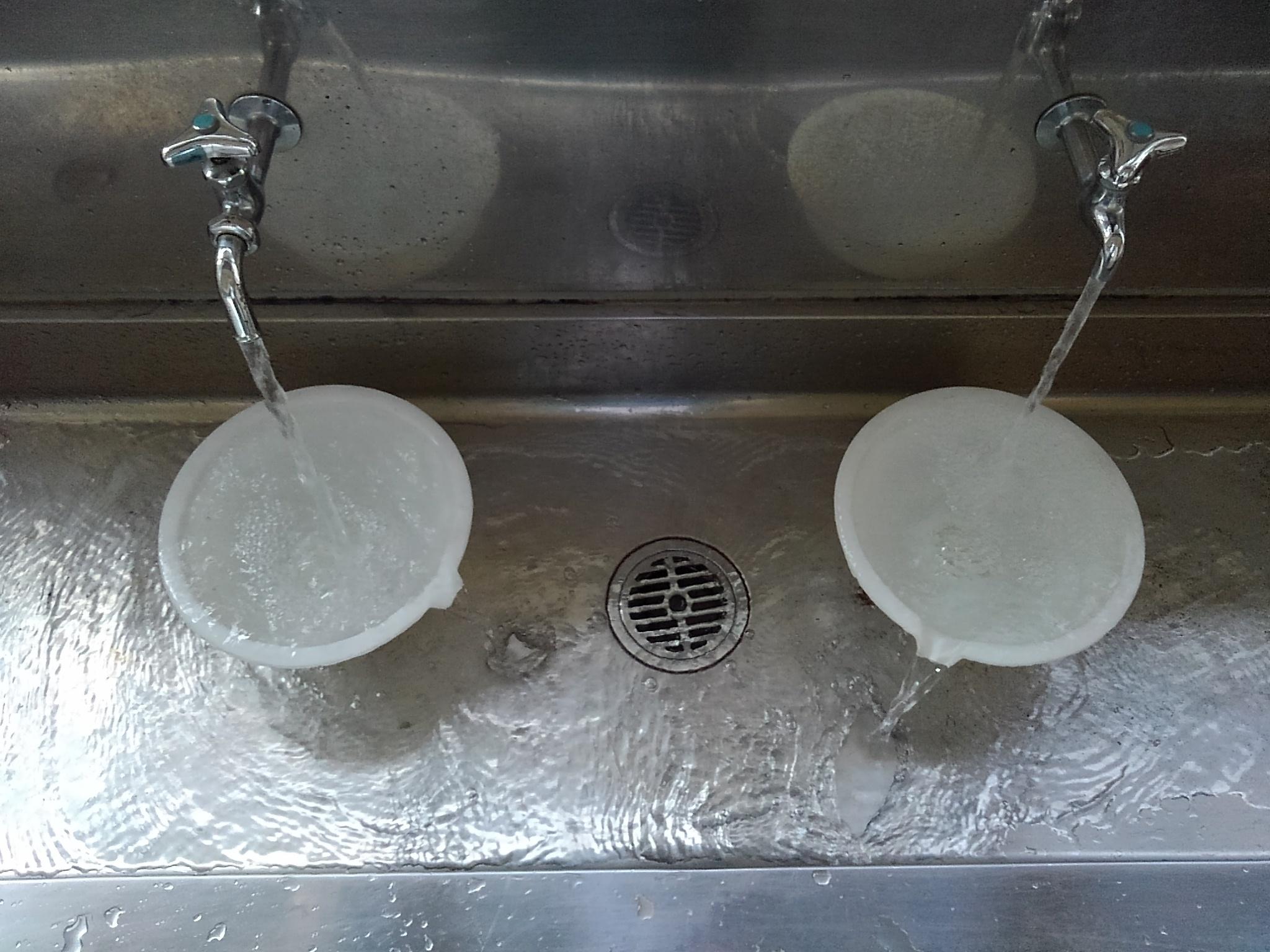 廊下手洗い洗浄後