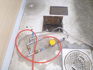 量水器 圧縮空気の打込口 設置